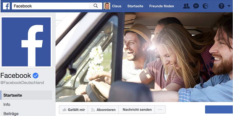 Fanpage von Facebook
