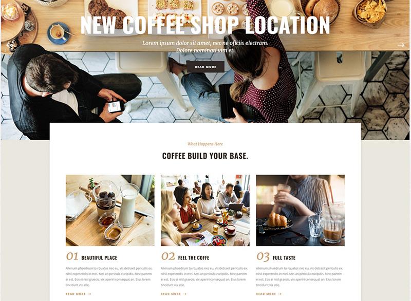 Webseite für ein Café