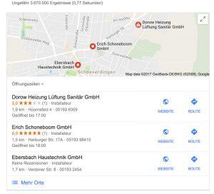 Google My Business Eintrag für Handwerker