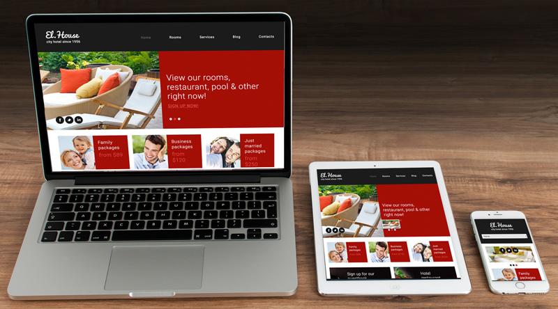 Hotel Webseite für PC Tablet und Smartphone