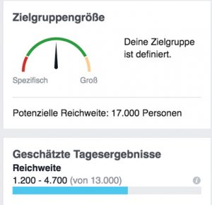 Facebook Zielgruppe für Restaurant Marketing